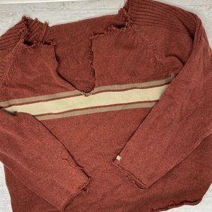 Custom Distressed Columbia Oversized Sweater